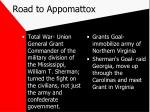 road to appomattox