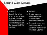 second class debate