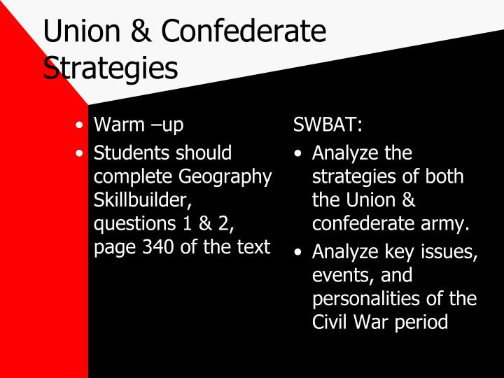 Union & Confederate Strategies