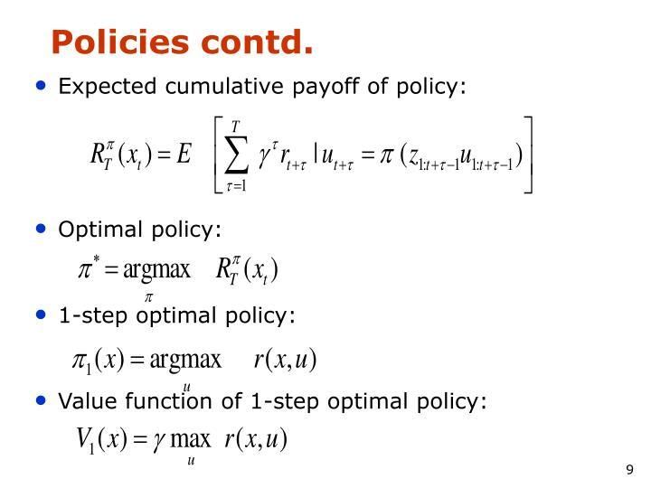 Policies contd.