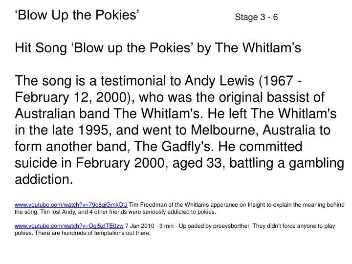 'Blow Up the Pokies'