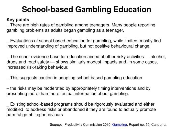 School-based Gambling Education