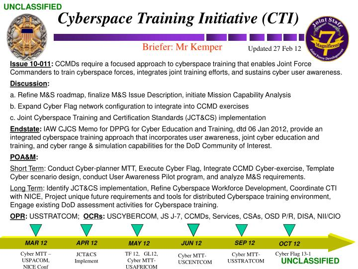 Cyberspace Training Initiative (CTI)