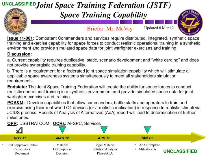 Joint Space Training Federation (JSTF)