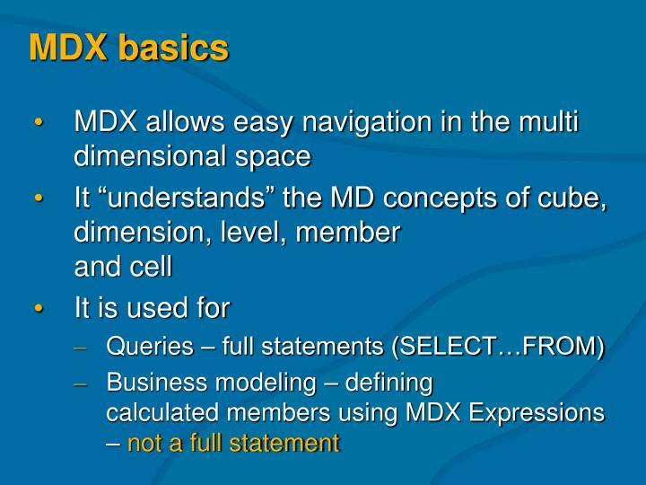 MDX basics