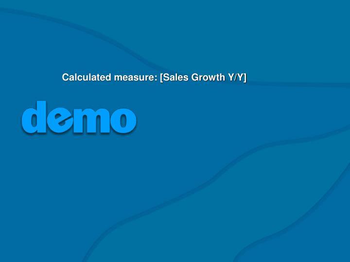 Calculated measure: [Sales Growth Y/Y]