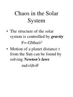 chaos in the solar system