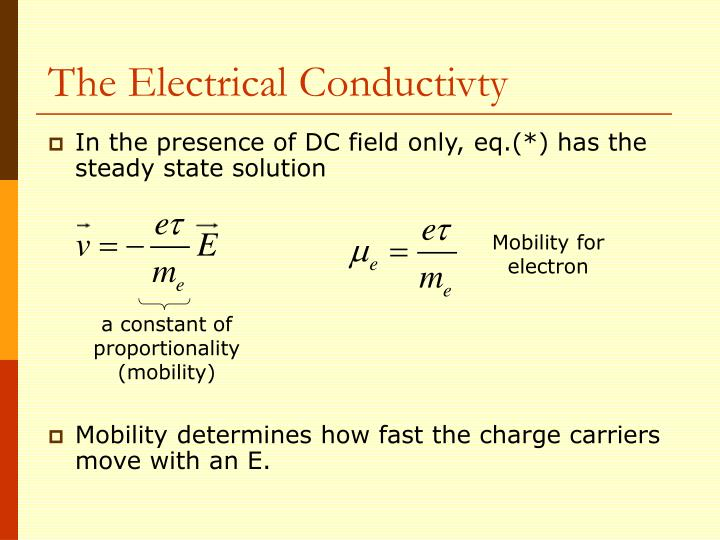 The Electrical Conductivty