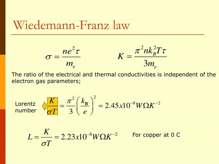 Wiedemann-Franz law