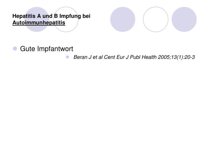 Hepatitis A und B Impfung bei
