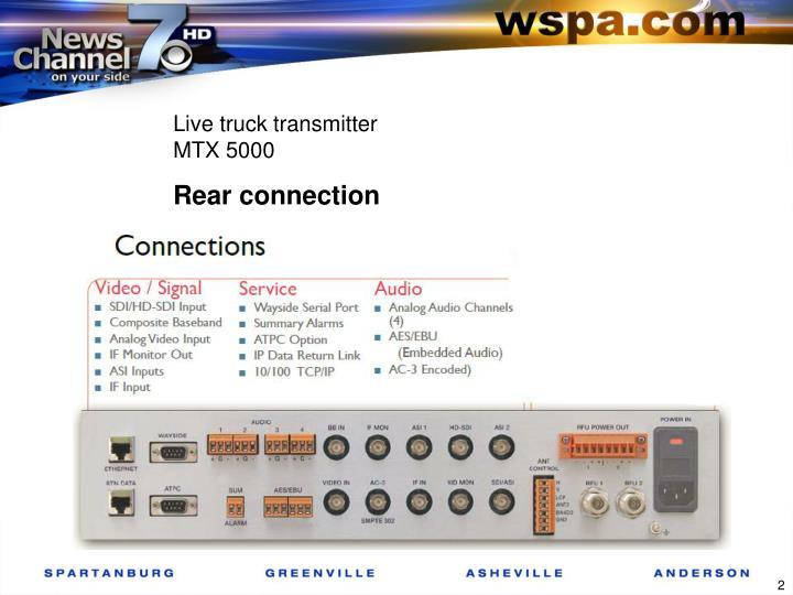 Live truck transmitter