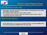 russia s largest regional energo