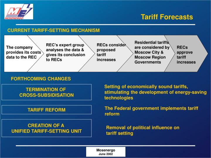 Tariff Forecasts