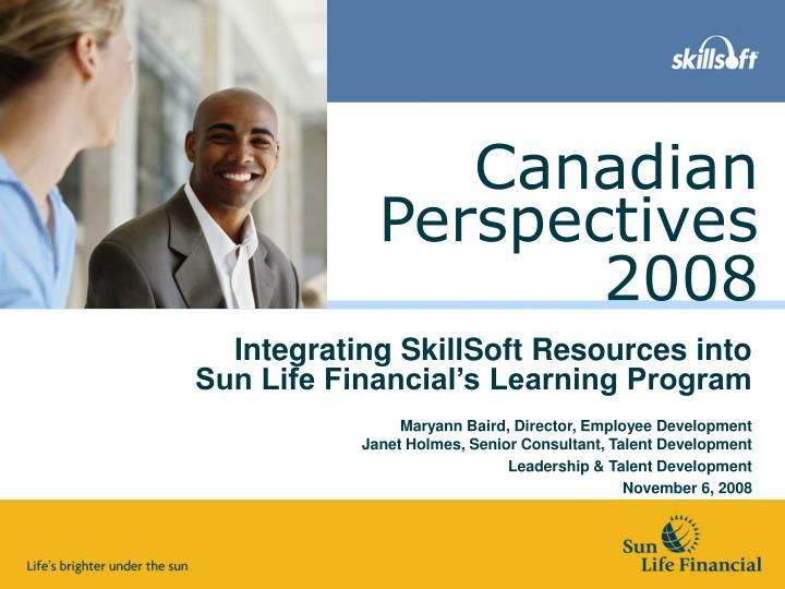 Integrating skillsoft resources into sun life financial s learning program