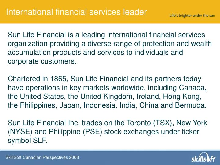 International financial services leader