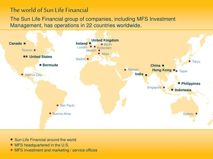 The world of Sun Life Financial