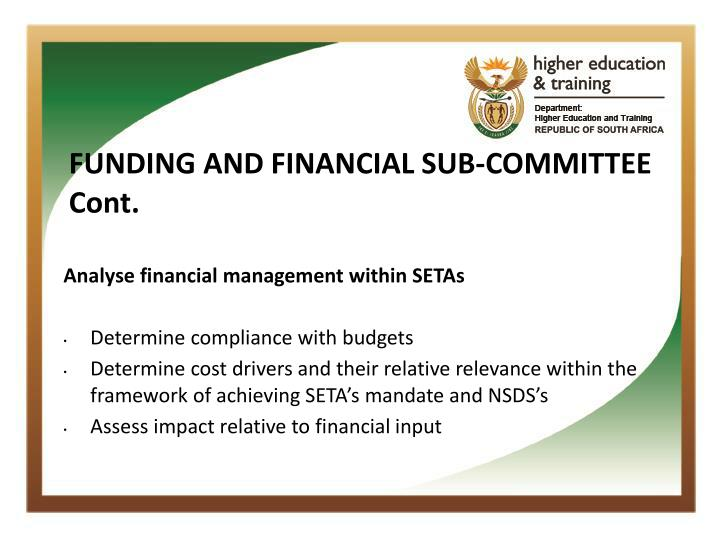 FUNDING AND FINANCIAL SUB-COMMITTEE