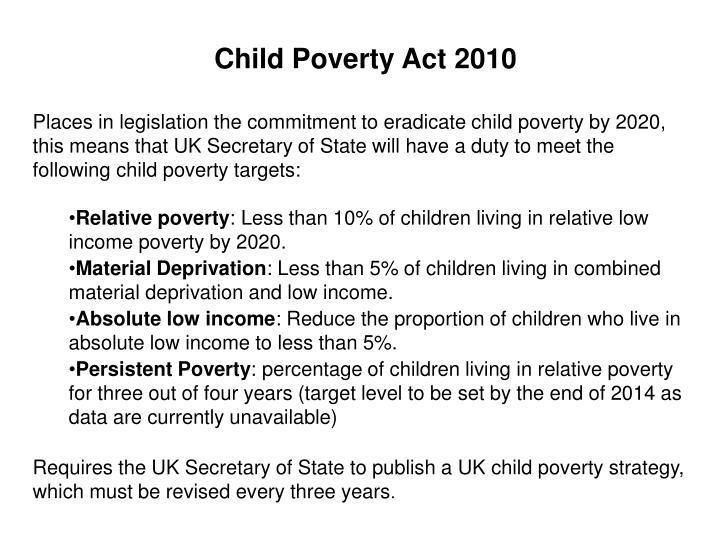 Child Poverty Act 2010