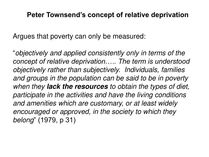 Peter Townsend's concept of relative deprivation