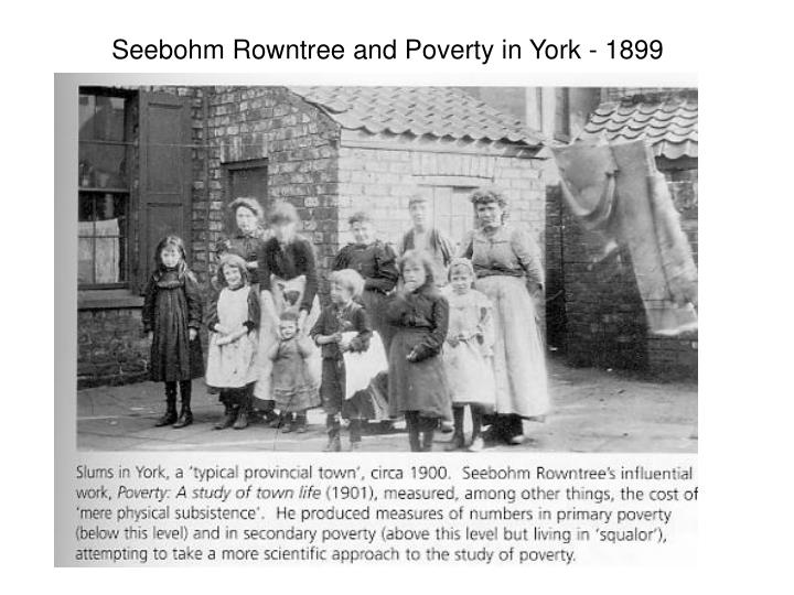 Seebohm Rowntree and Poverty in York - 1899