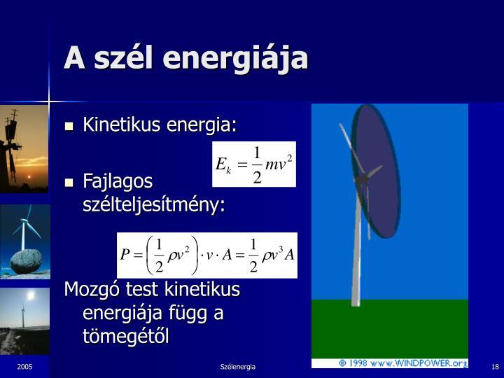 A szél energiája
