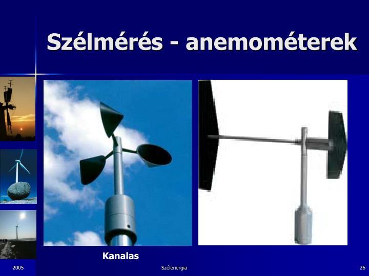 Szélmérés - anemométerek