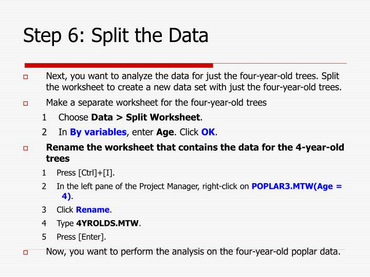 Step 6: Split the Data