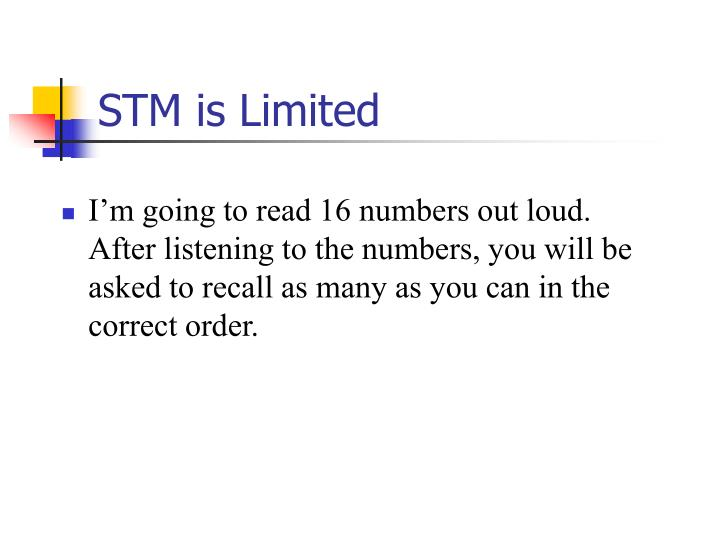 STM is Limited
