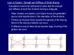 lean on system strength and stiffness of girder bracing
