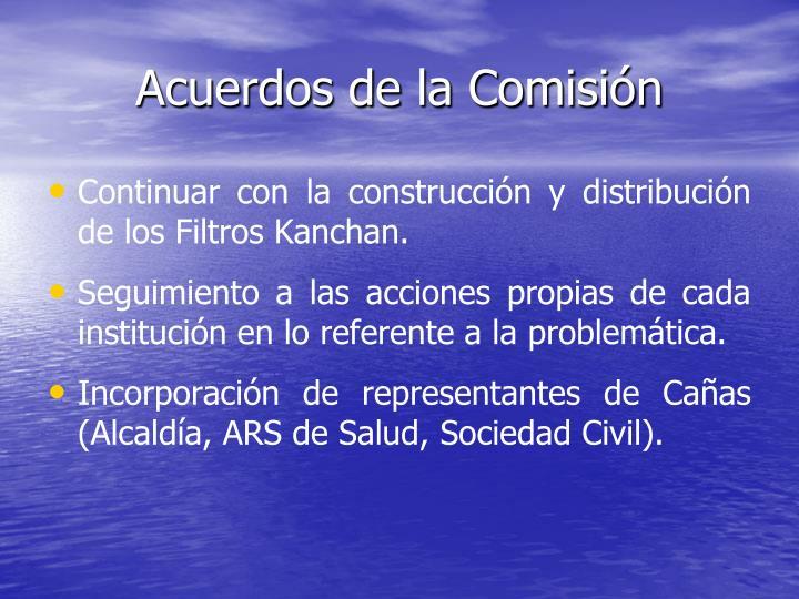 Acuerdos de la Comisión