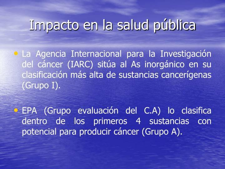 Impacto en la salud pública