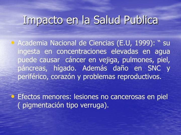 Impacto en la Salud Publica