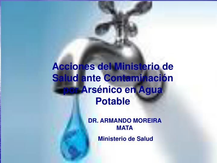 Acciones del Ministerio de Salud ante Contaminación por Arsénico en Agua Potable