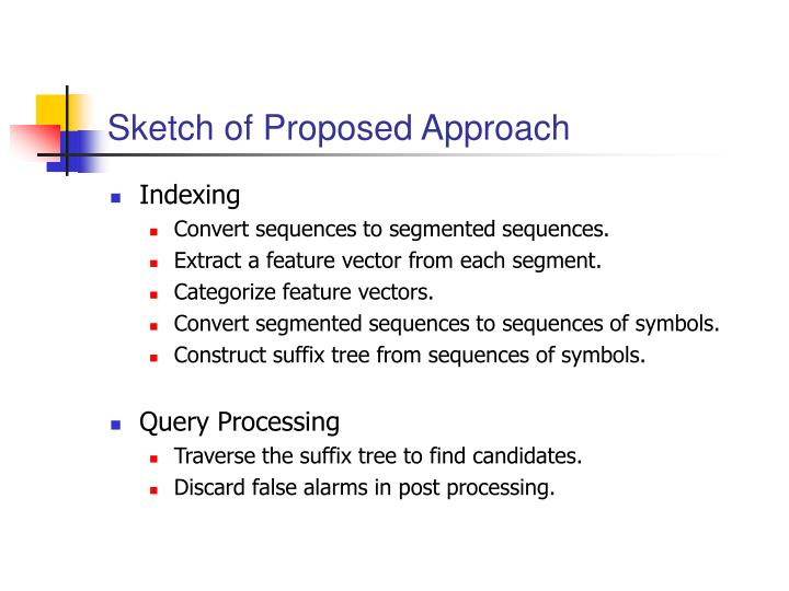 Sketch of Proposed Approach