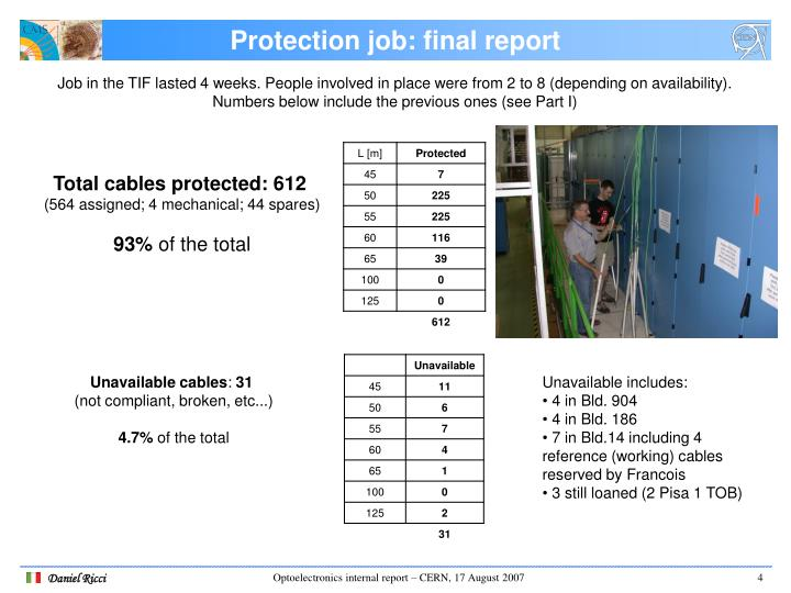 Protection job: final report