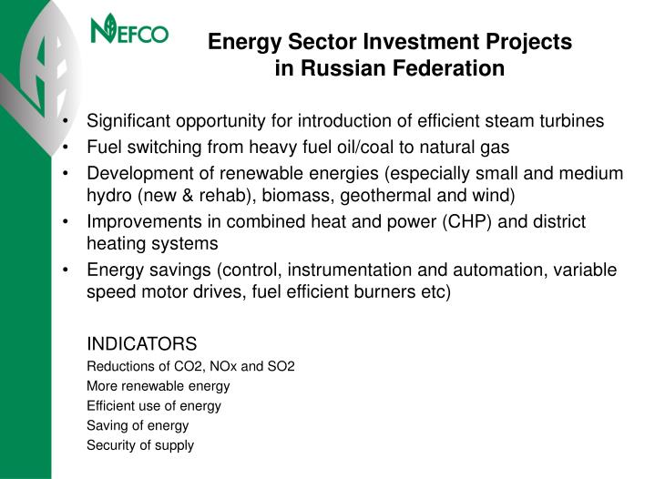 Energy Sector Investment Projects