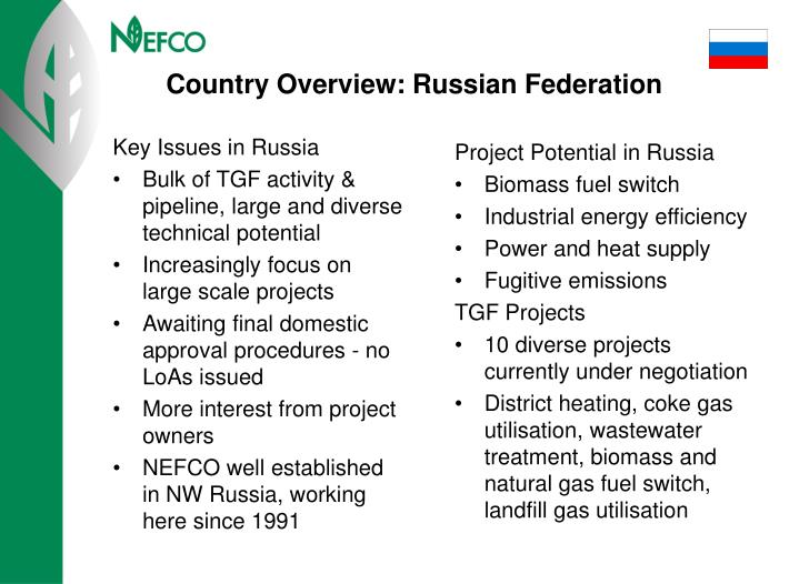 Key Issues in Russia