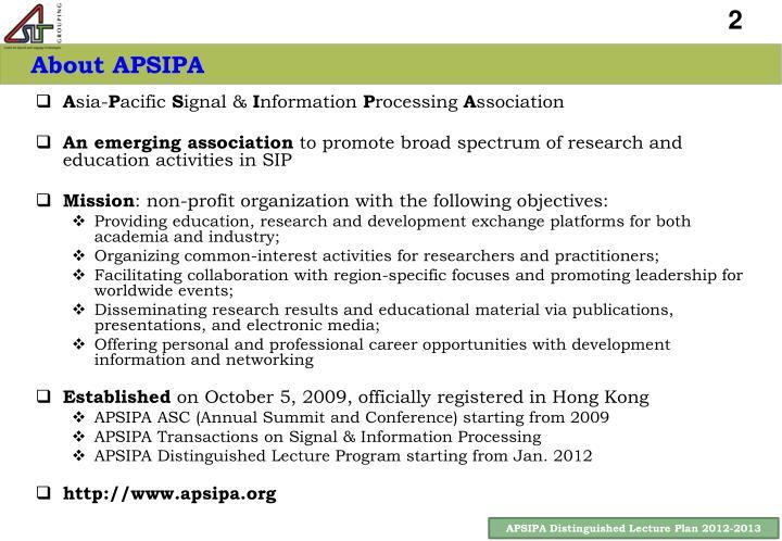 About APSIPA