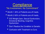 compliance no involvement no commitment