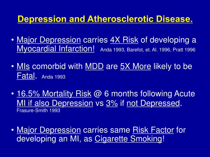 Depression and Atherosclerotic Disease.