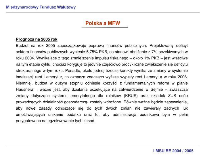 Polska a MFW