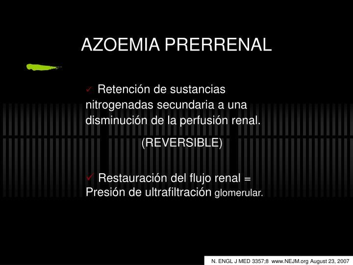 AZOEMIA PRERRENAL