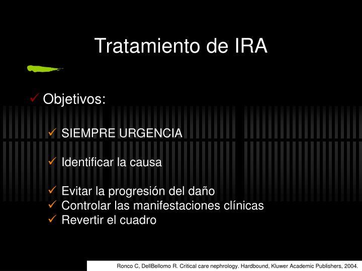 Tratamiento de IRA
