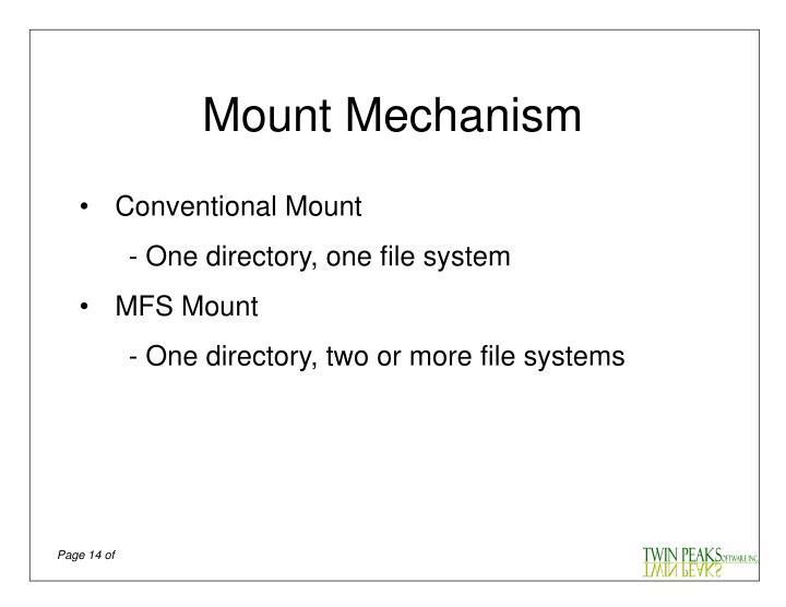 Mount Mechanism