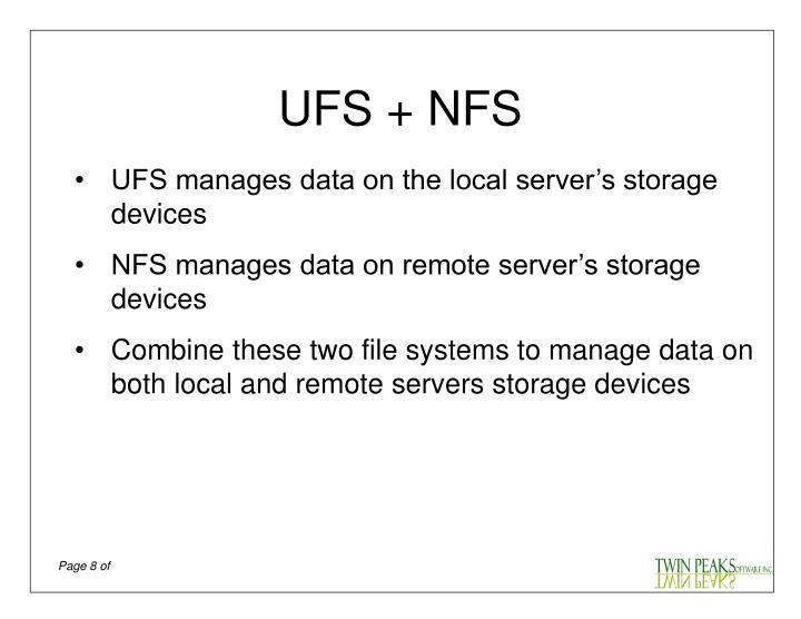 UFS + NFS