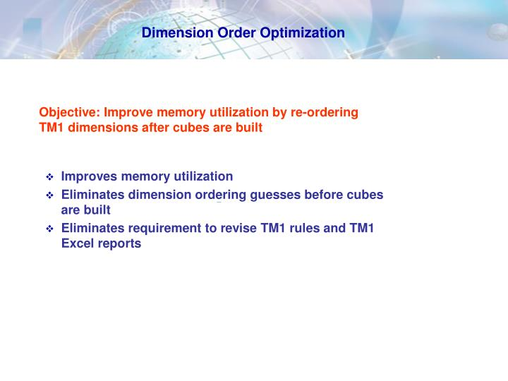 Dimension Order Optimization