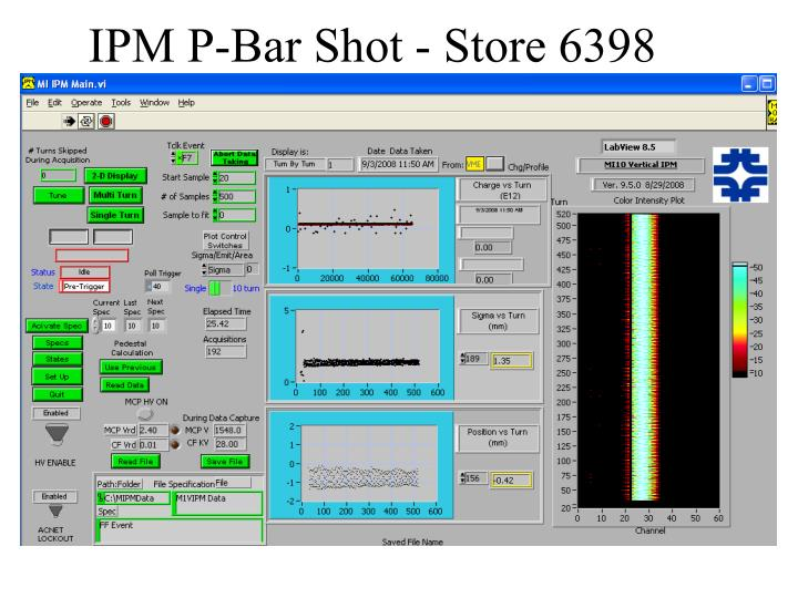 IPM P-Bar Shot - Store 6398