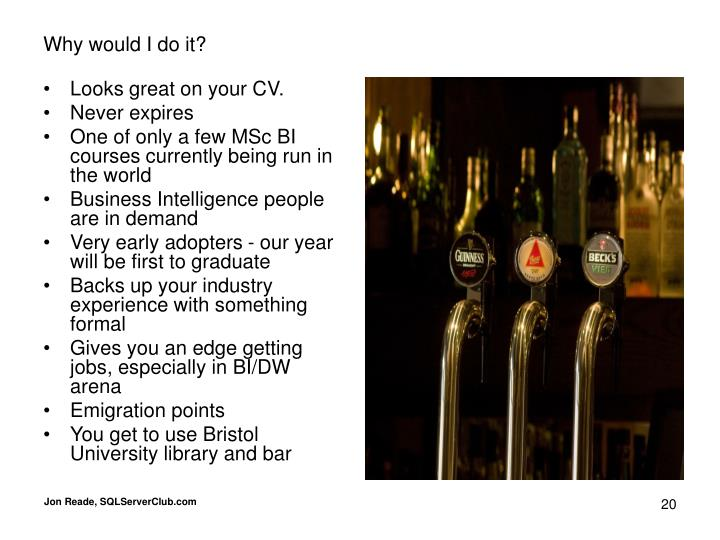 Looks great on your CV.