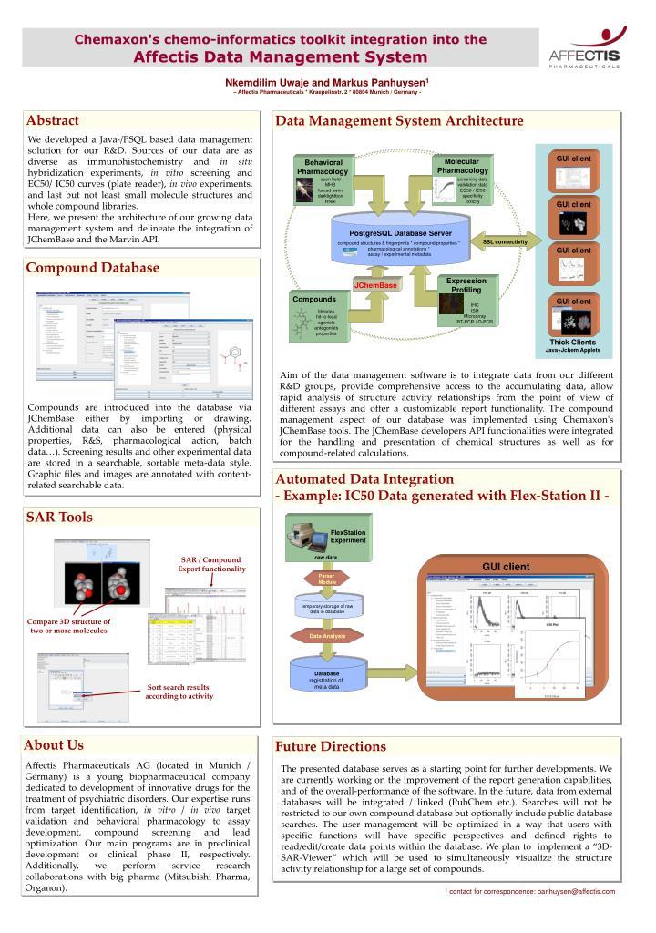 Chemaxon's chemo-informatics toolkit integration into the