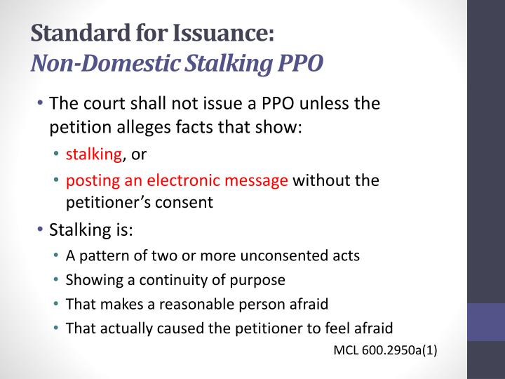 Standard for Issuance: